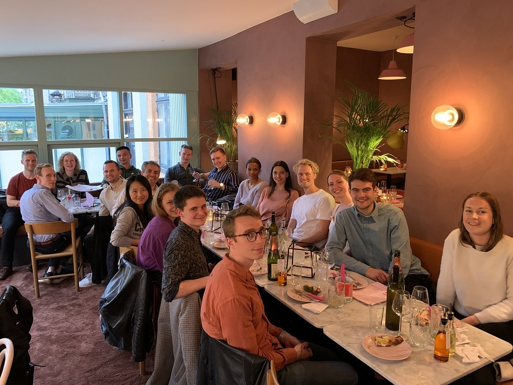 Beautiful farewell dinner for Postdoc Simon Bo Jensen leaving for new exciting adventures and professional development.
